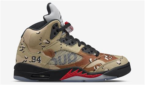 s day releases 2015 supreme air 5 camo sneaker bar detroit