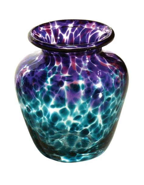 Blown Glass Vases by Purple Aquamarine Clear Vase V48 Blown Glass