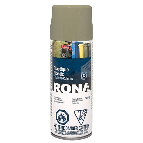 spray paint for plastic 340g taupe rona