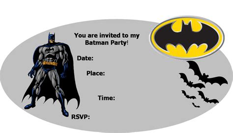 Batman Birthday Card Template by Batman Invitations Template Wauxqrsj