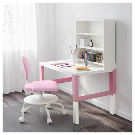 P 197 Hl Desk With Shelf Unit White Pink 96x58 Cm Ikea Pink And White Desk