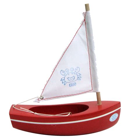 small boat toy small toy boat 200 crab red 17cm little french heart
