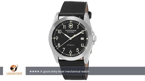Swiss Army 2175 Black Leather victorinox mens 241586 swiss army infantry mechanical black leather review test