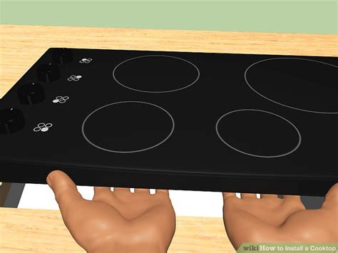 installing induction cooktop 3 ways to install a cooktop wikihow