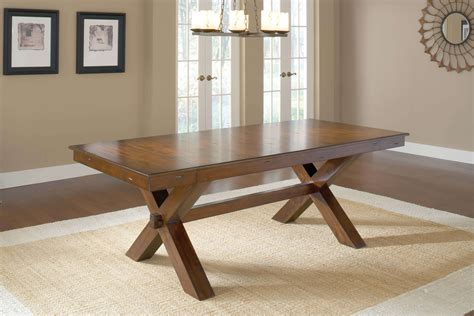 park avenue trestle table transitional hillsdale park avenue cherry trestle table goedekers