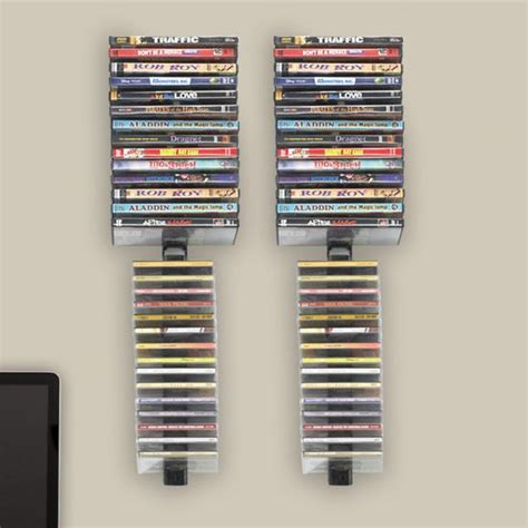 Wall Hanging Dvd Rack by Atlantic Stix Wall Mounted Multimedia Wire Rack Set Of 4