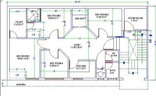 Home Design Cad 4 Bed Room House Design Autocad 3d Cad Model Grabcad