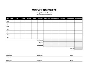 bi weekly timesheet template | template business