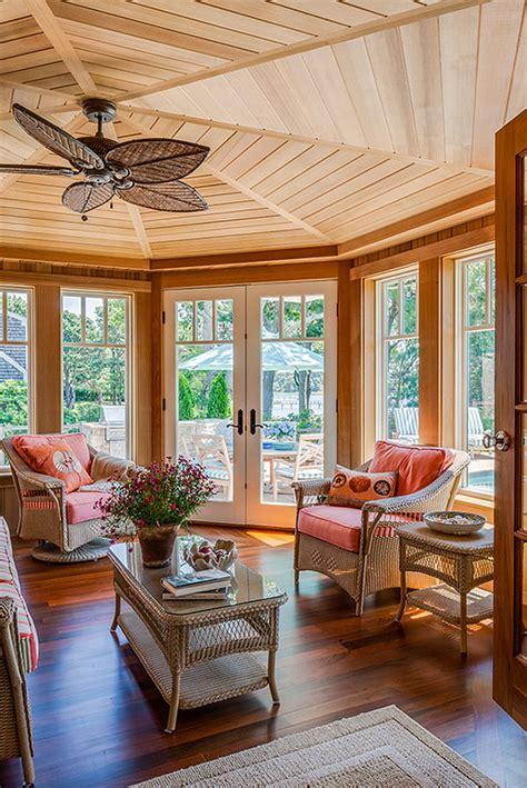 shiplap sunroom maine inspired shingle coastal cottage home bunch