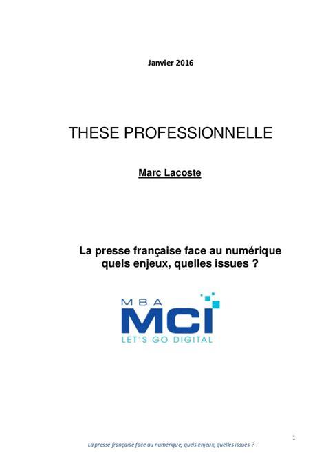 Mars Mba Leadership Program by These Presse Digital Marc Lacoste Mba Mci Mars 2016