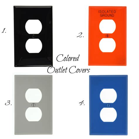 colored outlets colored outlet covers wall plate design ideas