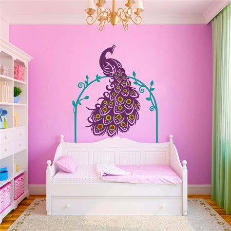peacock wall stickers vinyl peacock wall decals whyrll