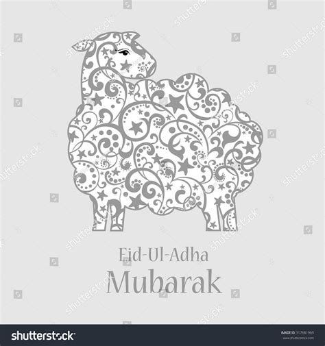 greeting card template for muslim community festival of