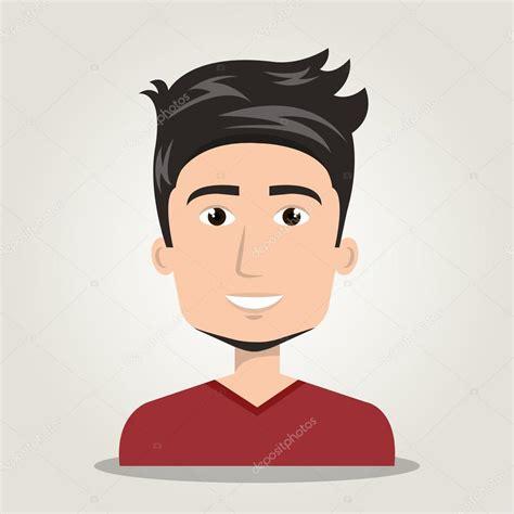 desenho rosto rosto de 237 cone dos desenhos animados do homem isolado