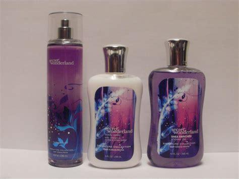 bath and works shower gel 3pc set secret fragrance mist lotion