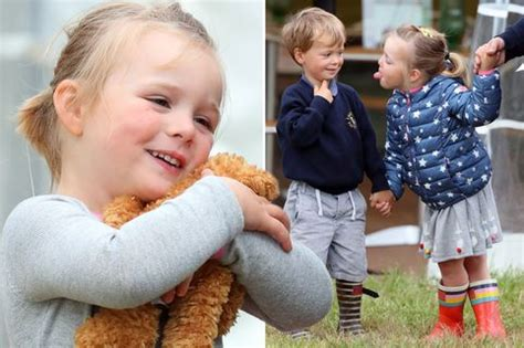 zara tindall takes mia to cheer on dad mike at golf comp