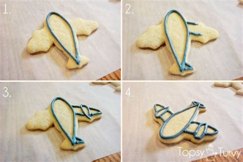 color flow airplane cookies ashlee real with real food