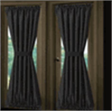 black french door curtains solid colored french door panels 36 colors