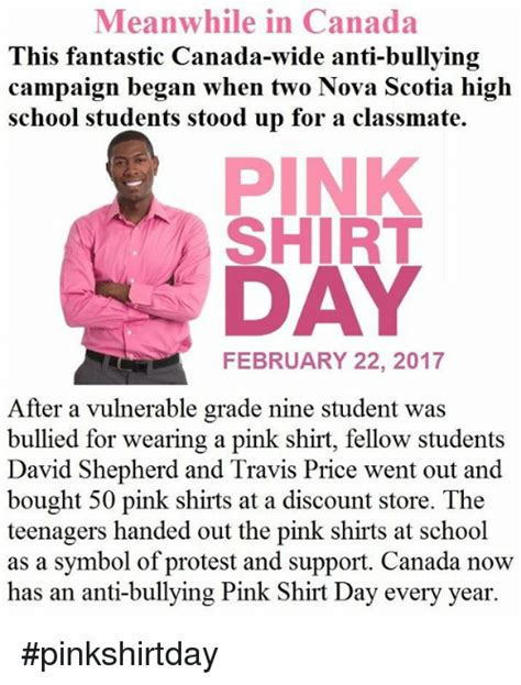 Pink Shirt Meme - 25 best memes about anti bullying day anti bullying day