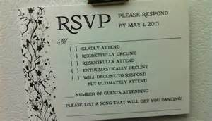 rsvp wedding cards wedding rsvp card wording