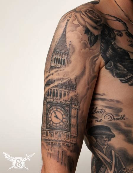tattoo arm gets bigger russ abbott big ben tattoos by russ abbott pinterest