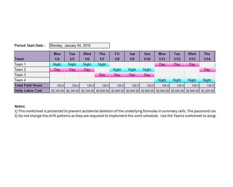 14 Dupont Shift Schedule Templats For Any Company Free Template Lab 2 Shift Schedule Template