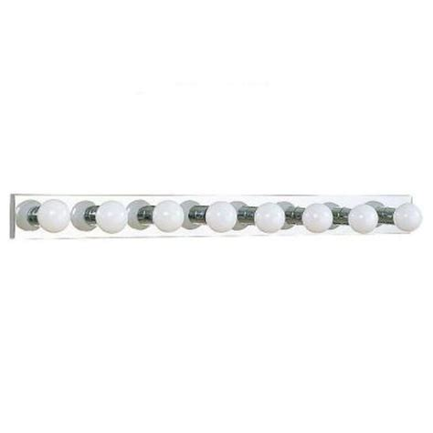 sea gull lighting center stage 8 light chrome vanity bar