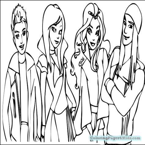 coloring pages the descendants mal coloring descendants games sketch coloring page