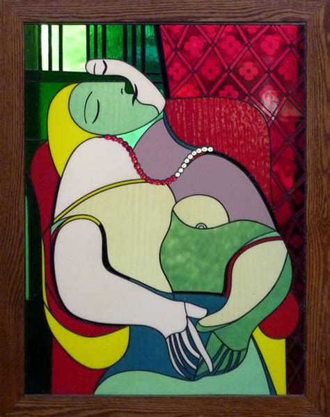 picasso paintings le reve one of a stained glass window depicting the