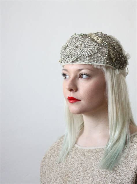 how to make 1920s headpieces vintage 1920 s bridal headpiece hats that glitter