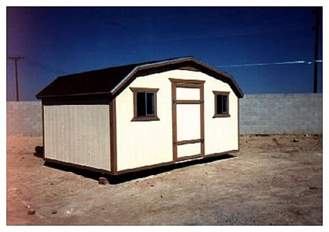 8x16 Shed by California Custom Sheds 8x16 Gambrel Roof