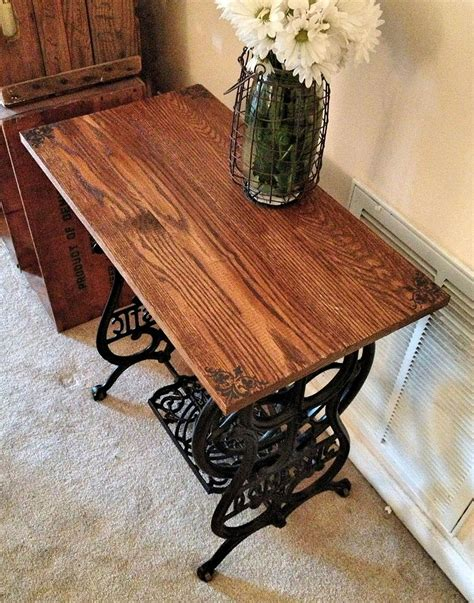 Singer Kitchen Cabinets by Hometalk Reclaimed Wood Sewing Machine Table