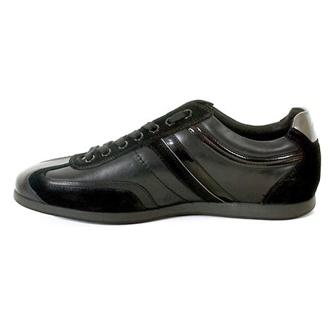 hugo shoes orange silvion 50235185 black leather hugo