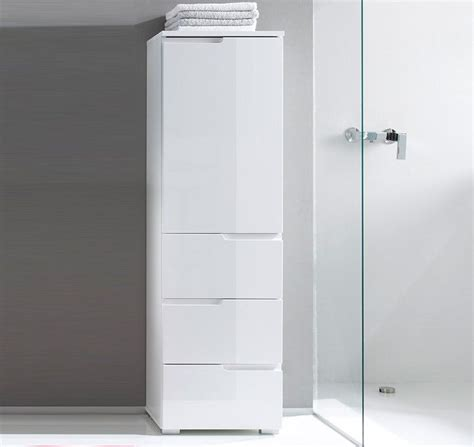 White Gloss Bathroom Storage by Cellini White Gloss Bathroom Cupboard Storage Unit Sb11