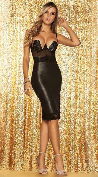slinky wet  dress black  nude dress black wet