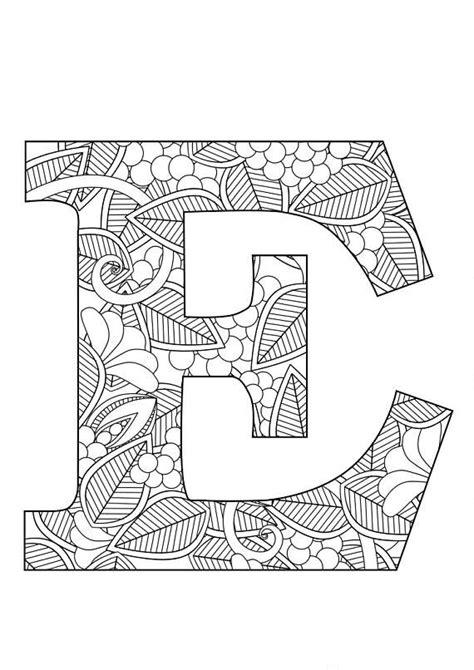 letter  floral  images lettering coloring pages