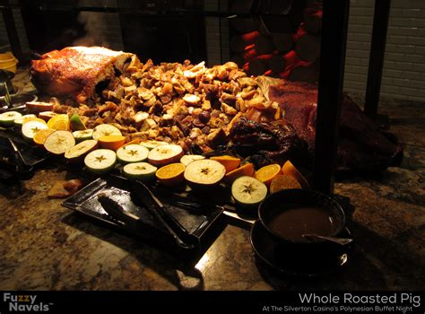 Whole Roasted Pig With Face At The Polynesian Buffet At Silverton Casino Buffet