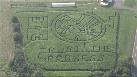 Marketing A Maze In A by A Trust The Process Corn Maze 171 Cbs Philly