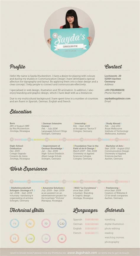 resume layout design behance 30 exles of creative graphic design resumes