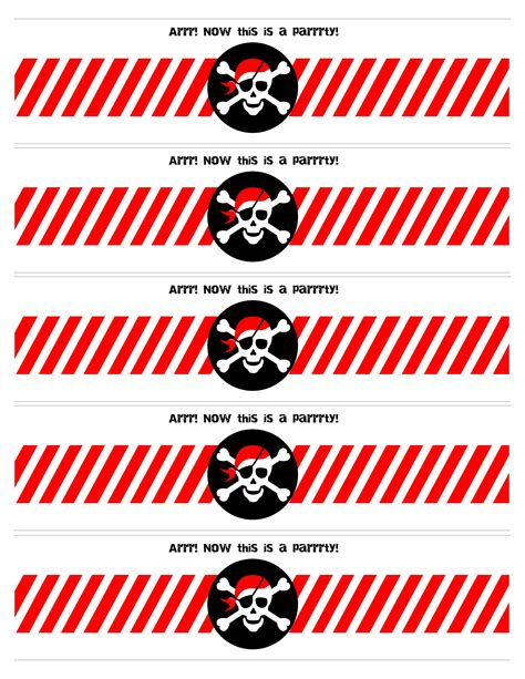 Pirate Birthday Party With Free Printables How To Nest For Less Captain Label Template