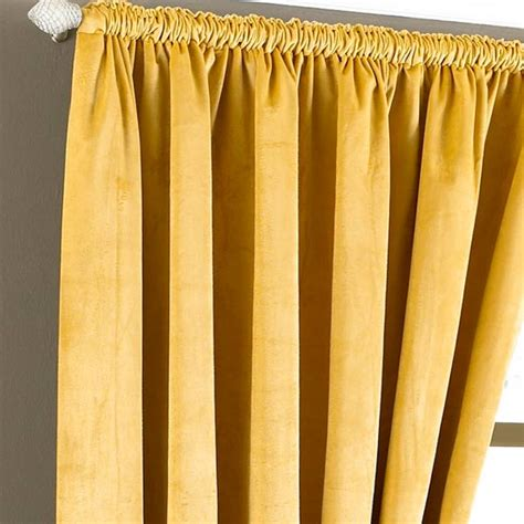golden yellow curtains riva home imperial velvet woven pencil pleat lined