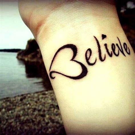 small believe tattoo believe tatoos pinterest