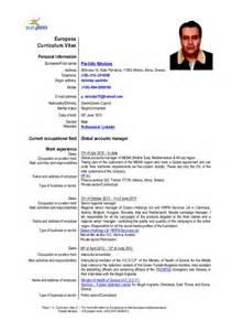 Curriculum Vitae In English by Europass Cv English Nikolaos Pavlidis