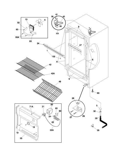 Frigidaire FFU11FK1CW0 upright freezer parts | Sears