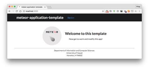 meteor template meteor application template a template for quickly