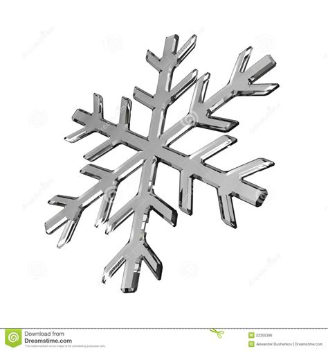 isolated gray glass snowflake on white royalty free stock