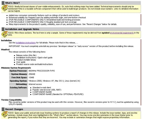 release notes template readyset pro product evaluation