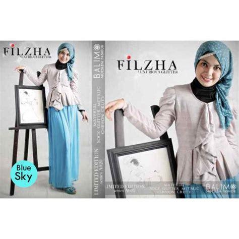 Balimo Blue balimo filzha 2 blue sky baju muslim gamis modern