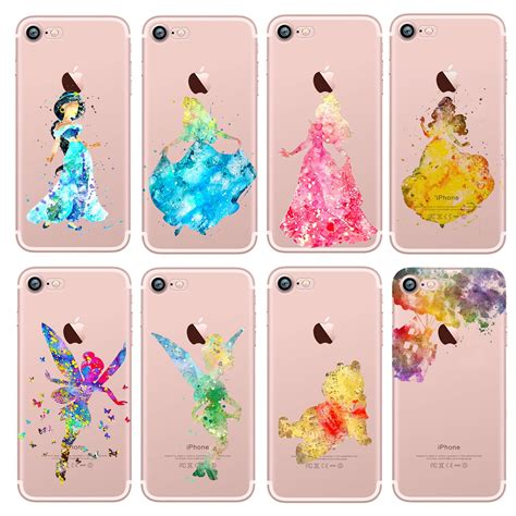 Apple Iphone X Casing Back Kasing Design 046 watercolour disney character princess back for iphone x 8 7 6s se ebay