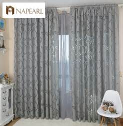 Bedroom Window Curtains Modern Decorative Curtains Jacquard Gray Curtains Window Curtain For Bedroom Window Blind In